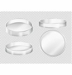 Round transparent plates on transparent background vector