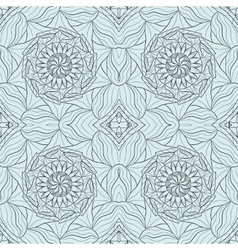 Seamless abstract ornament stencil round pattern vector image