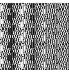 Seamless pattern based on japanese ornament kumiko vector