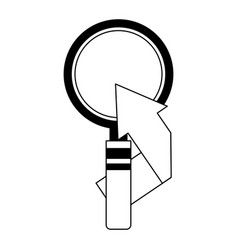 search magnifying glass with arrow up icon vector image