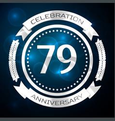 Seventy nine years anniversary celebration with vector