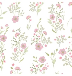 Small flower pattern Vintage floral seamless vector