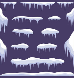 snow ice set vector image