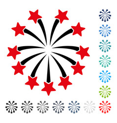 Spherical fireworks icon vector