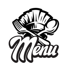 template for a menu with calligraphic lettering vector image