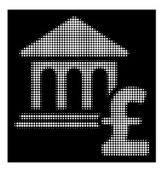 White halftone museum pound payment icon vector