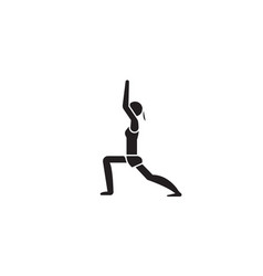 yoga black concept icon yoga flat vector image