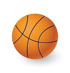 An isolated basketball vector image