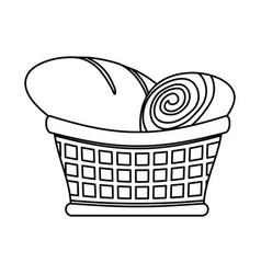 bakery goods basket vector image