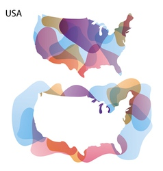 Design Map of USA background vector image vector image