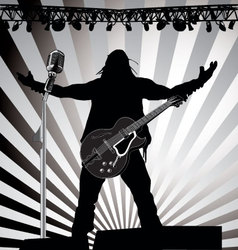 guitarist on stage vector image vector image
