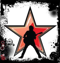 Rock star grunge background vector image vector image