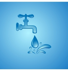 save water sign symbol background vector image