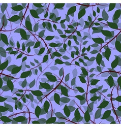 Seamless of Ash leaves vector image