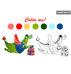 dragon color vector image vector image