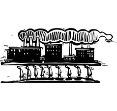 Factory on Top vector image