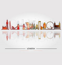 historic buildings of london vector image