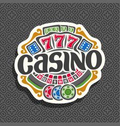 logo for casino vector image