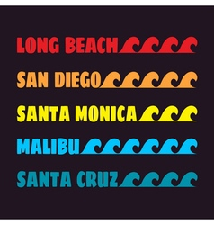 beach color design vector image