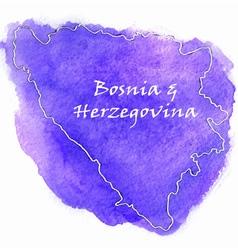 Bosnia Herzegovina map vector image vector image