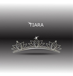 decorative tiara set 2 vector image