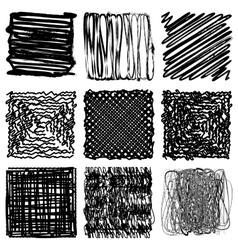 Distress Frame Set vector image