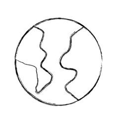 sketch draw world cartoon vector image