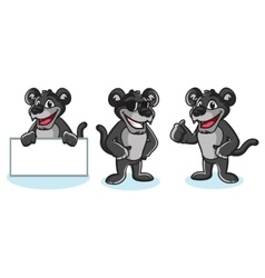 Panther mascot pose vector