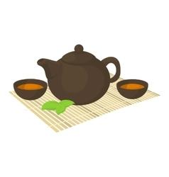 Tea ceremony icon cartoon style vector image