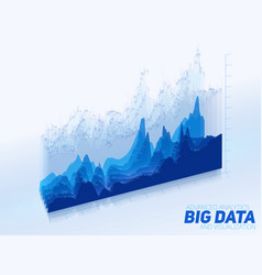 abstract colorful financial big data graph vector image