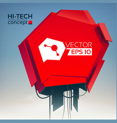 abstract technologic design concept vector image