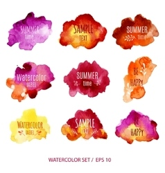 Abstract Watercolor labels vector image