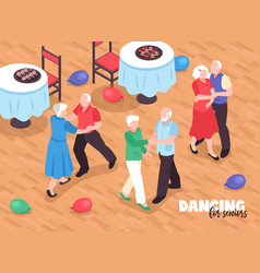 Active elderly people background vector