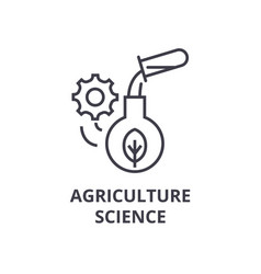 Agriculture science line icon outline sign vector