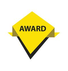 Award label design black yellow vector
