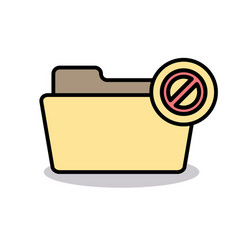 Ban banned block cancel disabled folder stop icon vector