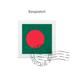 Bangladesh flag postage stamp vector