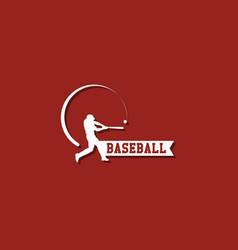 Baseball player logo template design vector