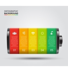 Battery element for infographic vector