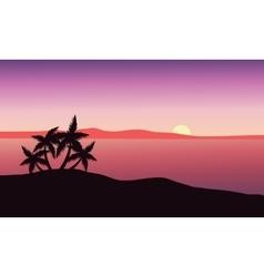 Beautiful sunrise on beach vector