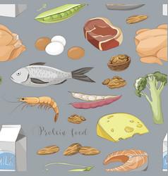 Best protein food pattern vector