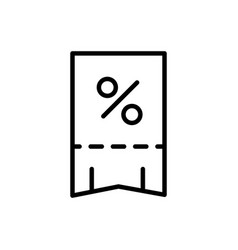 bill percent delivery icon thick line vector image