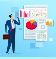 business report analysis vector image