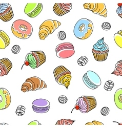 Cakes Seamless Pattern vector image