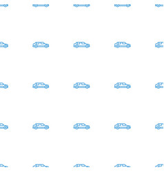 car icon pattern seamless white background vector image