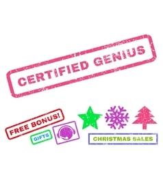 Certified Genius Rubber Stamp vector