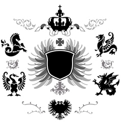coat of arms vector image