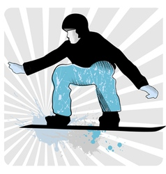 collection of snowboard skiers vector image