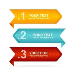 Colorful text box 123 concept vector