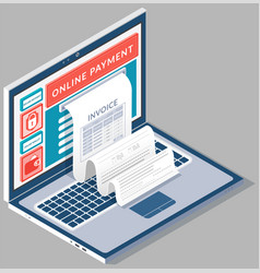 Concept pay bills tax accounts online via vector